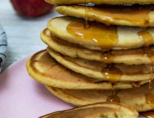 Vegane Sauerteig Pfannkuchen / Pancakes