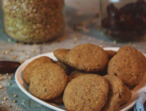 Weihnachtliche vegane Dattel-Buchweizen-Kekse – BLW geeignet